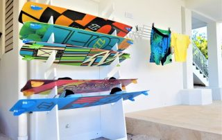 Caicias Villas kiteboard storage