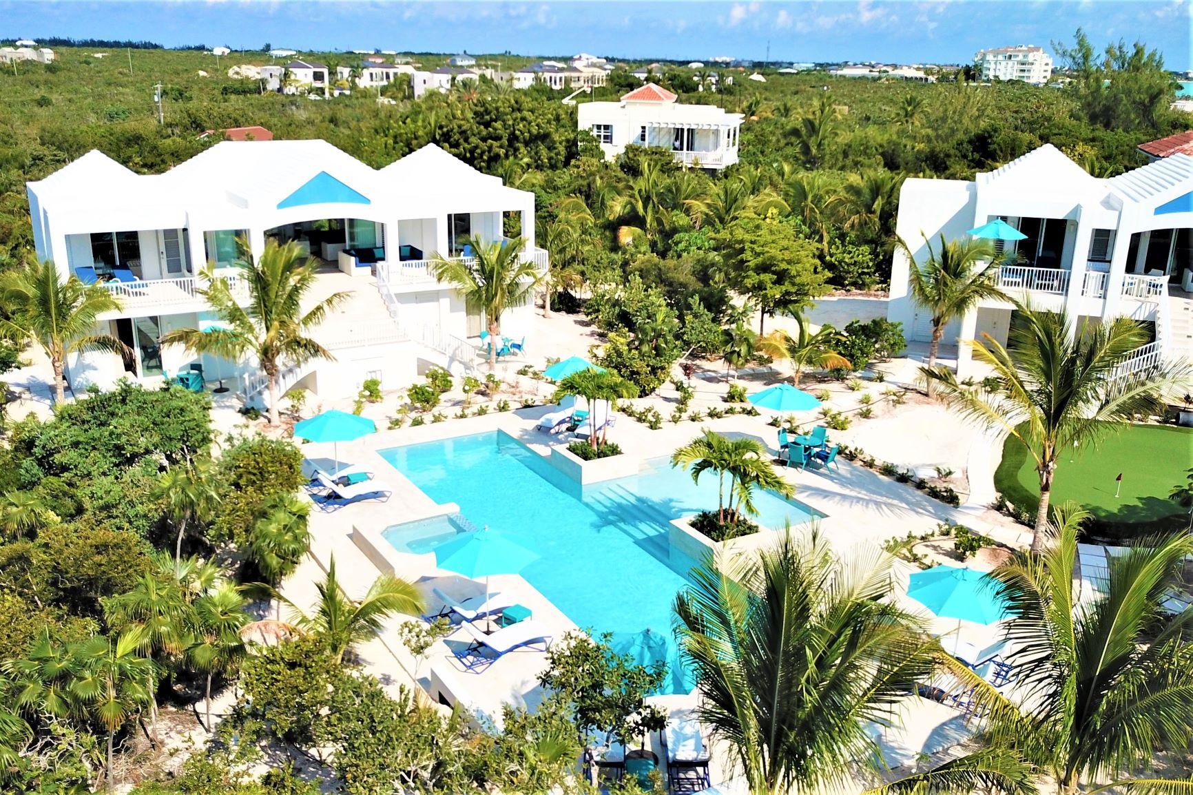 Birdsview of vacation rental Caicias Villas in Turks & Caicos
