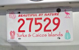 Carplates in the Turks and Caicos