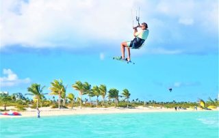 Kitesurfing in the Turks and Caicos