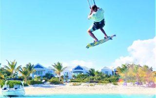 Kitesurfing infront of Caicias rental villas